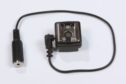 hot shoe adapter, top view