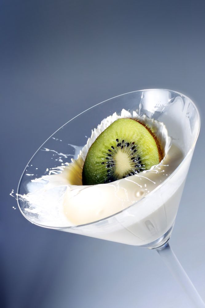 Kiwi-Splash, aus Dr. Thilo Gockels Workshop zum Thema Highspeed Fotografie